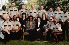 Marvin M. Farrior With Staff In 1999